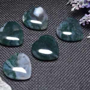 Shop Moss Agate Shapes! Best Hand Carved Green Moss Agate Polished Heart Shaped/Natural Moss Agate Stone/Worry stone/Decoration/Special gift-30mm | Natural genuine stones & crystals in various shapes & sizes. Buy raw cut, tumbled, or polished gemstones for making jewelry or crystal healing energy vibration raising reiki stones. #crystals #gemstones #crystalhealing #crystalsandgemstones #energyhealing #affiliate #ad