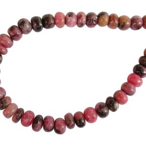 Shop Rhodonite Rondelle Beads! Natural Rhodonite Smooth Rondelles, Rhodonite Rondelle Beads, Rhodonite Smooth Beads (7-8MM) (JK51) | Natural genuine rondelle Rhodonite beads for beading and jewelry making.  #jewelry #beads #beadedjewelry #diyjewelry #jewelrymaking #beadstore #beading #affiliate #ad