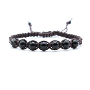Black Obsidian Bracelet | Natural genuine Gemstone bracelets. Buy crystal jewelry, handmade handcrafted artisan jewelry for women.  Unique handmade gift ideas. #jewelry #beadedbracelets #beadedjewelry #gift #shopping #handmadejewelry #fashion #style #product #bracelets #affiliate #ad