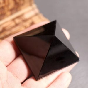 Shop Obsidian Shapes! Large Black Obsidian Crystal Pyramid Also Available in Many Sizes | Natural genuine stones & crystals in various shapes & sizes. Buy raw cut, tumbled, or polished gemstones for making jewelry or crystal healing energy vibration raising reiki stones. #crystals #gemstones #crystalhealing #crystalsandgemstones #energyhealing #affiliate #ad