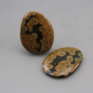 Shop Ocean Jasper Cabochons! Ocean Jasper Matching Pair Cabochons | Natural genuine stones & crystals in various shapes & sizes. Buy raw cut, tumbled, or polished gemstones for making jewelry or crystal healing energy vibration raising reiki stones. #crystals #gemstones #crystalhealing #crystalsandgemstones #energyhealing #affiliate #ad