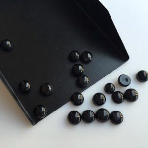 Shop Onyx Round Beads! 50 Pieces Wholesale 6mm Each Black Onyx Smooth Round Shaped Loose Cabochons BO3 | Natural genuine round Onyx beads for beading and jewelry making.  #jewelry #beads #beadedjewelry #diyjewelry #jewelrymaking #beadstore #beading #affiliate #ad
