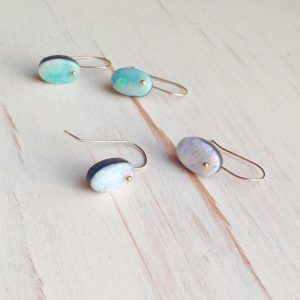 Shop Opal Jewelry! Opal Stud Earrings Opal Slice Earring Opal Jewelry Australian Boulder Opal Jewelry Opal Earrings | Natural genuine Opal jewelry. Buy crystal jewelry, handmade handcrafted artisan jewelry for women.  Unique handmade gift ideas. #jewelry #beadedjewelry #beadedjewelry #gift #shopping #handmadejewelry #fashion #style #product #jewelry #affiliate #ad