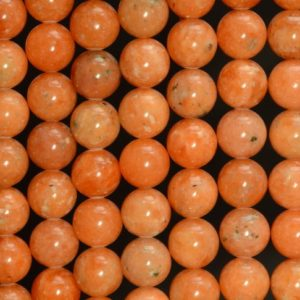 Shop Calcite Beads! 6mm Orange Calcite Gemstone Grade Aa Round Beads 7.5 Inch Half Strand (80007624 H-a273) | Natural genuine round Calcite beads for beading and jewelry making.  #jewelry #beads #beadedjewelry #diyjewelry #jewelrymaking #beadstore #beading #affiliate #ad
