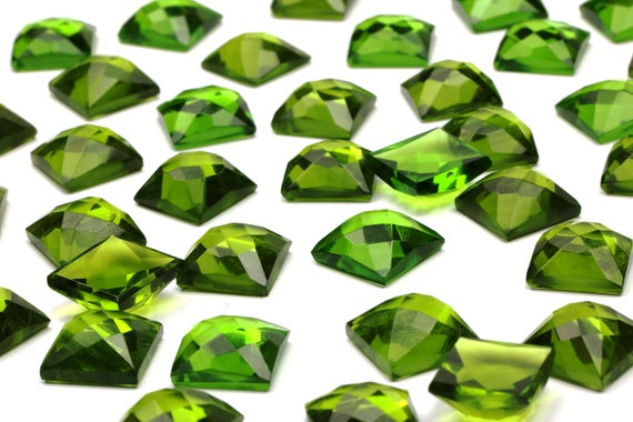 Large Green Peridot Cabochon,square Cut Cabochon,square Stone,faceted Cabochons,wholesale Diy Supplies,jewelry Making Craft - Aa Quality