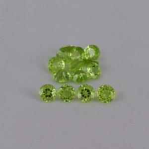 Shop Peridot Stones & Crystals! 5x5x3.3 mm Natural Peridot Faceted Cut Round AAA+ Grade Loose Gemstone – 100% Natural Green Peridot Gemstone – PEGRN-1009 | Natural genuine stones & crystals in various shapes & sizes. Buy raw cut, tumbled, or polished gemstones for making jewelry or crystal healing energy vibration raising reiki stones. #crystals #gemstones #crystalhealing #crystalsandgemstones #energyhealing #affiliate #ad