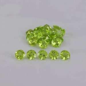 Shop Peridot Stones & Crystals! Natural Green Peridot 4x4x2.5 mm Faceted Cut Round AAA Grade Loose Gemstone – 100% Natural Green Peridot Gemstone – PEGRN-1006 | Natural genuine stones & crystals in various shapes & sizes. Buy raw cut, tumbled, or polished gemstones for making jewelry or crystal healing energy vibration raising reiki stones. #crystals #gemstones #crystalhealing #crystalsandgemstones #energyhealing #affiliate #ad