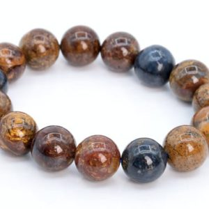 Shop Pietersite Bracelets! 15 Pcs – 14MM Red Brwon Blue Pietersite Beads Bracelet Grade AAA Colombia Genuine Natural Round Gemstone (108017h-2614) | Natural genuine Pietersite bracelets. Buy crystal jewelry, handmade handcrafted artisan jewelry for women.  Unique handmade gift ideas. #jewelry #beadedbracelets #beadedjewelry #gift #shopping #handmadejewelry #fashion #style #product #bracelets #affiliate #ad