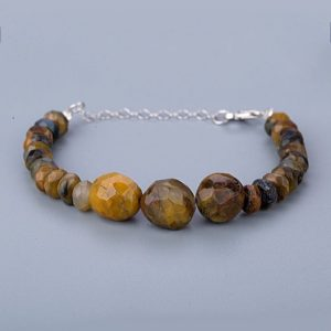 Pietersite Faceted Rondelle Round Shape Bracelet stackable unisex bracelet birthday gift…casual wear bracelet | Natural genuine Array bracelets. Buy crystal jewelry, handmade handcrafted artisan jewelry for women.  Unique handmade gift ideas. #jewelry #beadedbracelets #beadedjewelry #gift #shopping #handmadejewelry #fashion #style #product #bracelets #affiliate #ad
