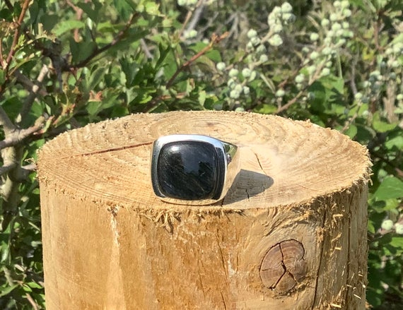 Mens' Gemstone Silver Ring, Pietersite Ring, Gift For Husband, Boyfriend Or Father