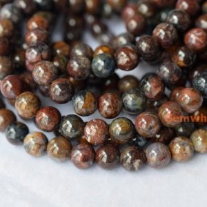 """Shop Pietersite Beads! 15.5"""" 4mm/6mm pietersite round beads, High quality brown yellow black color round beads, small natural pietersite round beads YGY 