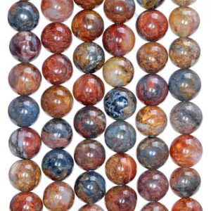 8mm Genuine African Pietersite Gemstone Rare Blue Red Yellow Round Loose Beads 15.5 inch Full Strand (80005480-A207) | Natural genuine beads Pietersite beads for beading and jewelry making.  #jewelry #beads #beadedjewelry #diyjewelry #jewelrymaking #beadstore #beading #affiliate #ad