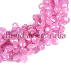 Shop Pink Sapphire Beads! Natural Pink Sapphire Pear Shape Beads, Faceted Pink Sapphire Beads, Aaa Quality, No Heat, Faceted Sapphire, Sapphire Beads   Natural genuine faceted Pink Sapphire beads for beading and jewelry making.  #jewelry #beads #beadedjewelry #diyjewelry #jewelrymaking #beadstore #beading #affiliate #ad