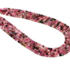 """Shop Pink Tourmaline Beads! Pink Tourmaline Beads,multi color tourmaline beads,semiprecious beads,smooth beads,tiny beads,small beads for jewelry – 16"""" Full Strand 