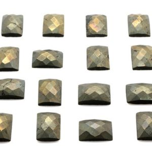 Shop Pyrite Stones & Crystals! Pyrite faceted cabochon,rectangle cabochon,rectangular gemstone,checker cut cabochon,unique gemstones,wholesale,AA Quality | Natural genuine stones & crystals in various shapes & sizes. Buy raw cut, tumbled, or polished gemstones for making jewelry or crystal healing energy vibration raising reiki stones. #crystals #gemstones #crystalhealing #crystalsandgemstones #energyhealing #affiliate #ad