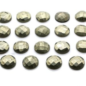 Shop Pyrite Cabochons! Faceted cabochon,pyrite cabochon,round gemstone,coin cabochon,faceted gemstone,custom cut cabochon,wholesale gemstones,AA Quality | Natural genuine stones & crystals in various shapes & sizes. Buy raw cut, tumbled, or polished gemstones for making jewelry or crystal healing energy vibration raising reiki stones. #crystals #gemstones #crystalhealing #crystalsandgemstones #energyhealing #affiliate #ad