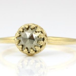 Shop Pyrite Jewelry! Delicate ring gold,pyrite ring,simple gemstone ring,gold stacking ring,iron pyrite rings,everyday bands,plain band gold | Natural genuine Pyrite jewelry. Buy crystal jewelry, handmade handcrafted artisan jewelry for women.  Unique handmade gift ideas. #jewelry #beadedjewelry #beadedjewelry #gift #shopping #handmadejewelry #fashion #style #product #jewelry #affiliate #ad