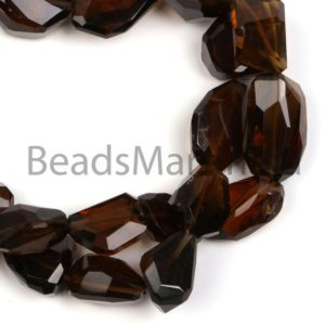 Shop Quartz Chip & Nugget Beads! Whisky Quartz Faceted Nuggets Shape Gemstone Beads, Whisky Quartz Nuggets Beads, Whisky Quartz Fancy Cut Beads, Whisky Quartz Nuggets Beads | Natural genuine chip Quartz beads for beading and jewelry making.  #jewelry #beads #beadedjewelry #diyjewelry #jewelrymaking #beadstore #beading #affiliate #ad