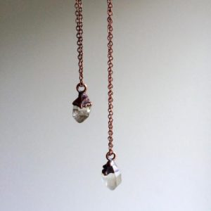 Raw crystal necklace | Electroformed crystal necklace | Raw crystal necklace | Rough quartz crystal pendant | Raw gemstone jewelry | Natural genuine Quartz pendants. Buy crystal jewelry, handmade handcrafted artisan jewelry for women.  Unique handmade gift ideas. #jewelry #beadedpendants #beadedjewelry #gift #shopping #handmadejewelry #fashion #style #product #pendants #affiliate #ad