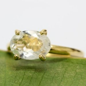 oval ring,gold ring,prong setting ring,crystal quartz ring,solid gold ring,gemstone ring,cocktail ring,vintage ring,white quartz ring | Natural genuine Gemstone rings, simple unique handcrafted gemstone rings. #rings #jewelry #shopping #gift #handmade #fashion #style #affiliate #ad