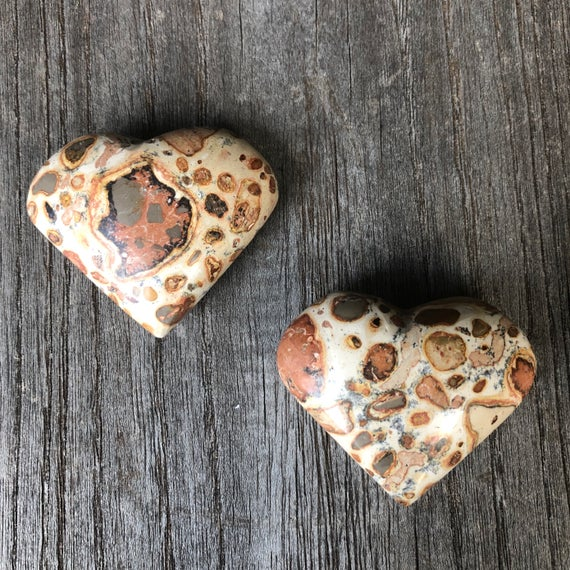 Leopardskin Rhyolite Hearts Ws7083 A And B