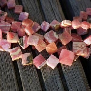 Rhodochrosite 7-15.5mm rhombus beads (ETB00641) | Natural genuine beads Gemstone beads for beading and jewelry making.  #jewelry #beads #beadedjewelry #diyjewelry #jewelrymaking #beadstore #beading #affiliate #ad