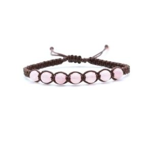 Rose quartz Bracelet | Natural genuine Array bracelets. Buy crystal jewelry, handmade handcrafted artisan jewelry for women.  Unique handmade gift ideas. #jewelry #beadedbracelets #beadedjewelry #gift #shopping #handmadejewelry #fashion #style #product #bracelets #affiliate #ad