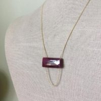 Ruby Necklace Genuine Ruby Bar Necklace Gemstone Jewelry Ruby Pendant Necklace July Birthstone | Natural genuine Gemstone jewelry. Buy crystal jewelry, handmade handcrafted artisan jewelry for women.  Unique handmade gift ideas. #jewelry #beadedjewelry #beadedjewelry #gift #shopping #handmadejewelry #fashion #style #product #jewelry #affiliate #ad
