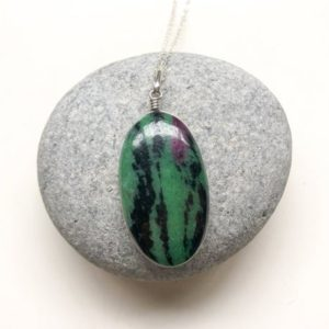 Shop Ruby Zoisite Pendants! Ruby Zoisite pendant, Oval shape, Natural Ruby Zoisite sterling silver pendant, Watermelon Ruby, Tiny Ruby pendant, Ruby silver jewelry | Natural genuine Ruby Zoisite pendants. Buy crystal jewelry, handmade handcrafted artisan jewelry for women.  Unique handmade gift ideas. #jewelry #beadedpendants #beadedjewelry #gift #shopping #handmadejewelry #fashion #style #product #pendants #affiliate #ad