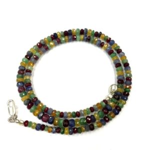 Shop Sapphire Faceted Beads! Natural Gemstone Multi Sapphire Faceted Rondelle Beads Sapphire Gemstone Beads Wholesale Sapphire Beads Top Quality | Natural genuine faceted Sapphire beads for beading and jewelry making.  #jewelry #beads #beadedjewelry #diyjewelry #jewelrymaking #beadstore #beading #affiliate #ad