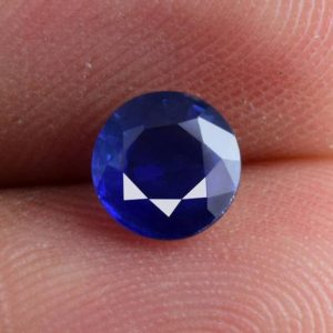 Shop Sapphire Stones & Crystals! 5.8×5.8×2.7 mm Natural Blue Sapphire 0.82 cts Faceted Round AAA+ Grade Precious Loose Gemstone – 100% Natural Sapphire Gemstone – SABLU-1036 | Natural genuine stones & crystals in various shapes & sizes. Buy raw cut, tumbled, or polished gemstones for making jewelry or crystal healing energy vibration raising reiki stones. #crystals #gemstones #crystalhealing #crystalsandgemstones #energyhealing #affiliate #ad