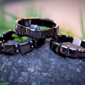 SHUNGITE EMF PROTECTION Flat Square, Rectangle, Square and Double Round 6mm Bead Bracelets Mens Unisex Black 5G 6.5'' wrist size or smaller | Natural genuine Array bracelets. Buy handcrafted artisan men's jewelry, gifts for men.  Unique handmade mens fashion accessories. #jewelry #beadedbracelets #beadedjewelry #shopping #gift #handmadejewelry #bracelets #affiliate #ad