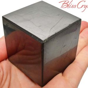 Shop Shungite Shapes! 1.6 inch SHUNGITE Cube Polished for Purification #SC36 | Natural genuine stones & crystals in various shapes & sizes. Buy raw cut, tumbled, or polished gemstones for making jewelry or crystal healing energy vibration raising reiki stones. #crystals #gemstones #crystalhealing #crystalsandgemstones #energyhealing #affiliate #ad