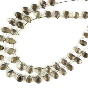Shop Smoky Quartz Faceted Beads! 21 Pieces Natural Smoky Quartz Pear Shape Faceted Approx 5×7-6×10 MM Beads,Smoky Beads,Gemstone Jewelry,Smoky Faceted Beads,Wholesale Price   Natural genuine faceted Smoky Quartz beads for beading and jewelry making.  #jewelry #beads #beadedjewelry #diyjewelry #jewelrymaking #beadstore #beading #affiliate #ad