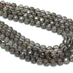 Shop Smoky Quartz Faceted Beads! Natural smoky quartz beads,genuine beads,brown beads,gemstone beads,round beads,faceted beads,quartz beads strand,beads wholesale,AA Quality | Natural genuine faceted Smoky Quartz beads for beading and jewelry making.  #jewelry #beads #beadedjewelry #diyjewelry #jewelrymaking #beadstore #beading #affiliate #ad