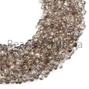 Shop Smoky Quartz Bead Shapes! Smoky Quartz Plain Drops Beads, Smoky Smooth Beads, Smoky Quartz Drops Beads, Drops Shape Beads, Smoky Quartz Beads, Smooth Smoky Quartz | Natural genuine other-shape Smoky Quartz beads for beading and jewelry making.  #jewelry #beads #beadedjewelry #diyjewelry #jewelrymaking #beadstore #beading #affiliate #ad