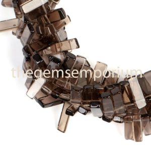 Shop Smoky Quartz Bead Shapes! Smoky Quartz Plain Stick Shape Beads, Smoky Quartz Fancy Shape Beads,Smoky Quartz Smooth Stick Shape Beads Side Drill,Smoky Fancy Shape bead | Natural genuine other-shape Smoky Quartz beads for beading and jewelry making.  #jewelry #beads #beadedjewelry #diyjewelry #jewelrymaking #beadstore #beading #affiliate #ad