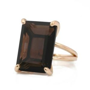 Shop Smoky Quartz Rings! Smoky quartz ring,rose gold ring women,cocktail rings,large statement rings,brown gem rings,rectangle ring,14k gold ring stone | Natural genuine Smoky Quartz rings, simple unique handcrafted gemstone rings. #rings #jewelry #shopping #gift #handmade #fashion #style #affiliate #ad