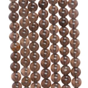 Shop Smoky Quartz Round Beads! 4MM Natural Clear Smoky Quartz Gemstone Grade AA Round Loose Beads 15.5 inch Full Strand (80003797-B94) | Natural genuine round Smoky Quartz beads for beading and jewelry making.  #jewelry #beads #beadedjewelry #diyjewelry #jewelrymaking #beadstore #beading #affiliate #ad