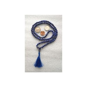 Shop Sodalite Necklaces! 108 Sodalite Handmade Mala Beads Necklace – Blessed & Energized Karma Nirvana Meditation 6-7mm Prayer Beads For Awakening Chakra Kundali | Natural genuine Sodalite necklaces. Buy crystal jewelry, handmade handcrafted artisan jewelry for women.  Unique handmade gift ideas. #jewelry #beadednecklaces #beadedjewelry #gift #shopping #handmadejewelry #fashion #style #product #necklaces #affiliate #ad
