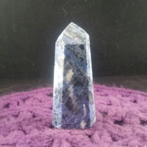 Shop Sodalite Points & Wands! Sodalite Tower Polished Crystal Point Stones Crystals Large Natural Blue White Unique Display Self standing Brazil | Natural genuine stones & crystals in various shapes & sizes. Buy raw cut, tumbled, or polished gemstones for making jewelry or crystal healing energy vibration raising reiki stones. #crystals #gemstones #crystalhealing #crystalsandgemstones #energyhealing #affiliate #ad