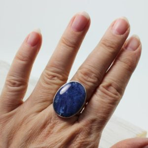 Shop Men's Gemstone Rings! Sodalite ring oval shape natural blue Sodalite stone set on sterling silver 925e medium size ring simple and stylish unisex piece   Natural genuine Agate rings, simple unique handcrafted gemstone rings. #rings #jewelry #shopping #gift #handmade #fashion #style #affiliate #ad