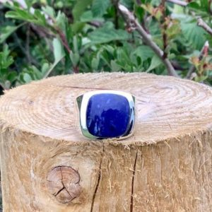 Shop Sodalite Rings! Sodalite Silver Ring for Men or Women, Mens Blue Stone Silver Ring, Sodalite Silver Ring, Gift For Husband or Boyfriend   Natural genuine Sodalite mens fashion rings, simple unique handcrafted gemstone men's rings, gifts for men. Anillos hombre. #rings #jewelry #crystaljewelry #gemstonejewelry #handmadejewelry #affiliate #ad