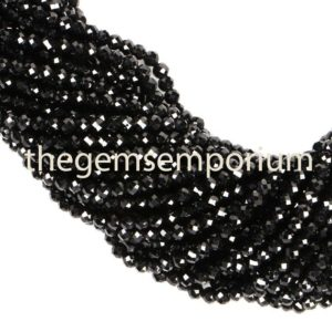 Shop Spinel Faceted Beads! Black Spinel Faceted Rondelle Beads, Black Spinel Faceted Beads, Black Spinel Rondelle Beads, Black Spinel Beads, Black Spinel (2.5mm) | Natural genuine faceted Spinel beads for beading and jewelry making.  #jewelry #beads #beadedjewelry #diyjewelry #jewelrymaking #beadstore #beading #affiliate #ad
