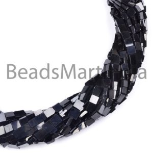 Shop Spinel Bead Shapes! Black Spinel Smooth Plain Square Gemstone Beads, Flat Square, Black Spinel Gemstone Beads, Black Spinel Beads, Black Spinel 4-6MM | Natural genuine other-shape Spinel beads for beading and jewelry making.  #jewelry #beads #beadedjewelry #diyjewelry #jewelrymaking #beadstore #beading #affiliate #ad