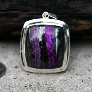Sugilite pendant – Sugilite and Manganese Pendant – Gorgeous Tone – Sugilite Jewelry – Sugilite Silver Pendant – Sugilite Manganese necklace | Natural genuine Sugilite pendants. Buy crystal jewelry, handmade handcrafted artisan jewelry for women.  Unique handmade gift ideas. #jewelry #beadedpendants #beadedjewelry #gift #shopping #handmadejewelry #fashion #style #product #pendants #affiliate #ad
