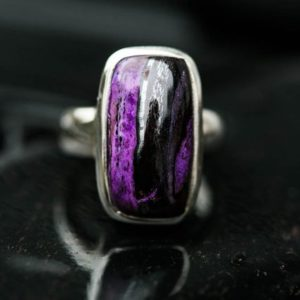 Shop Sugilite Rings! Sugilite Ring 5 – Sugilite and Manganese ring – Suglite Jewelry – Sugilite ring – Ring Size 5 Sterling Silver Sugilite Ring 5 ring sugilite | Natural genuine Sugilite rings, simple unique handcrafted gemstone rings. #rings #jewelry #shopping #gift #handmade #fashion #style #affiliate #ad
