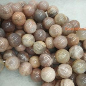 "Shop Sunstone Round Beads! 15.5"" Sunstone 14mm round beads, semi-precious stone, orange color jewelry beads, gemstone wholesaler, big stone beads, full strand 
