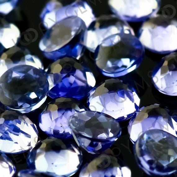 Tanzanite Rose Cut Cabochon 3mm Round - Per Stone