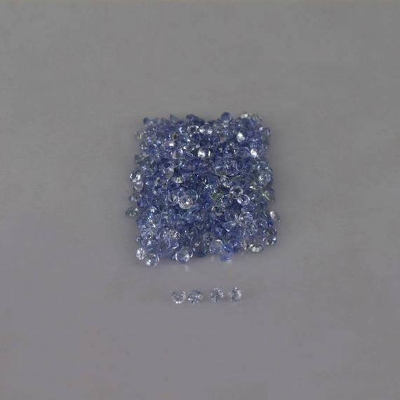 1.3x1.3x1 Mm Natural Tanzanite Faceted Round Aa Grade Loose Gemstone , 100% Natural Tanzanite Gemstone , Tanzanite Jewelry Gems - Tzblu-1018